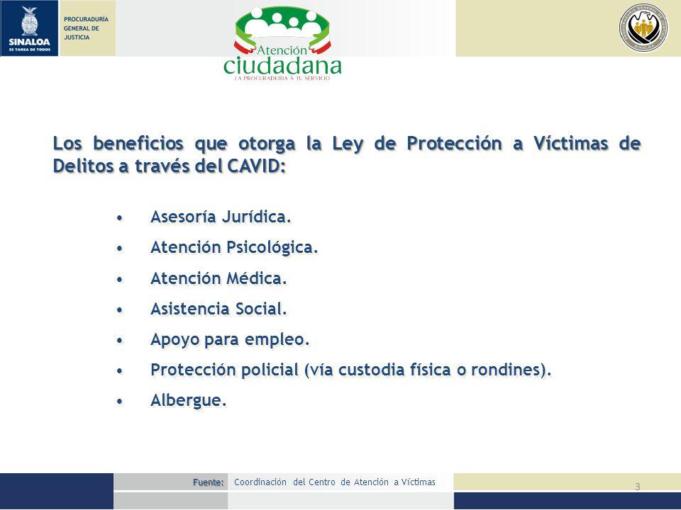 Los beneficios que otorga la Ley de Protección a Víctimas de Delitos a través del CAVID: