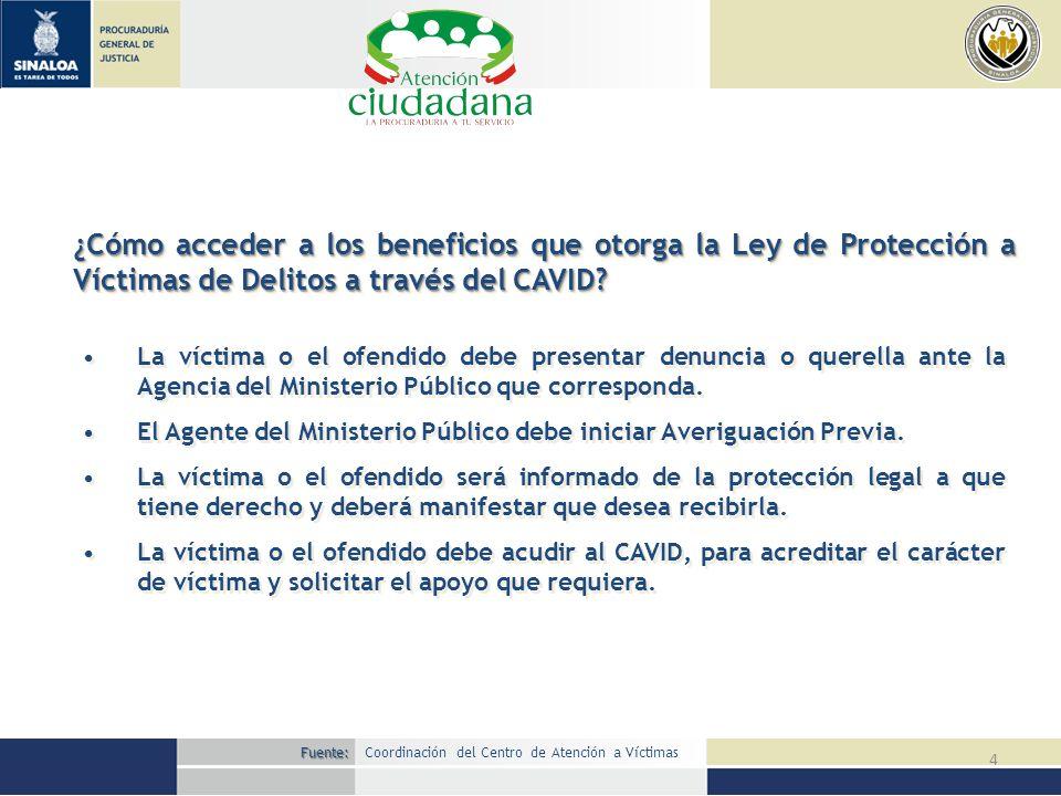 ¿Cómo acceder a los beneficios que otorga la Ley de Protección a Víctimas de Delitos a través del CAVID