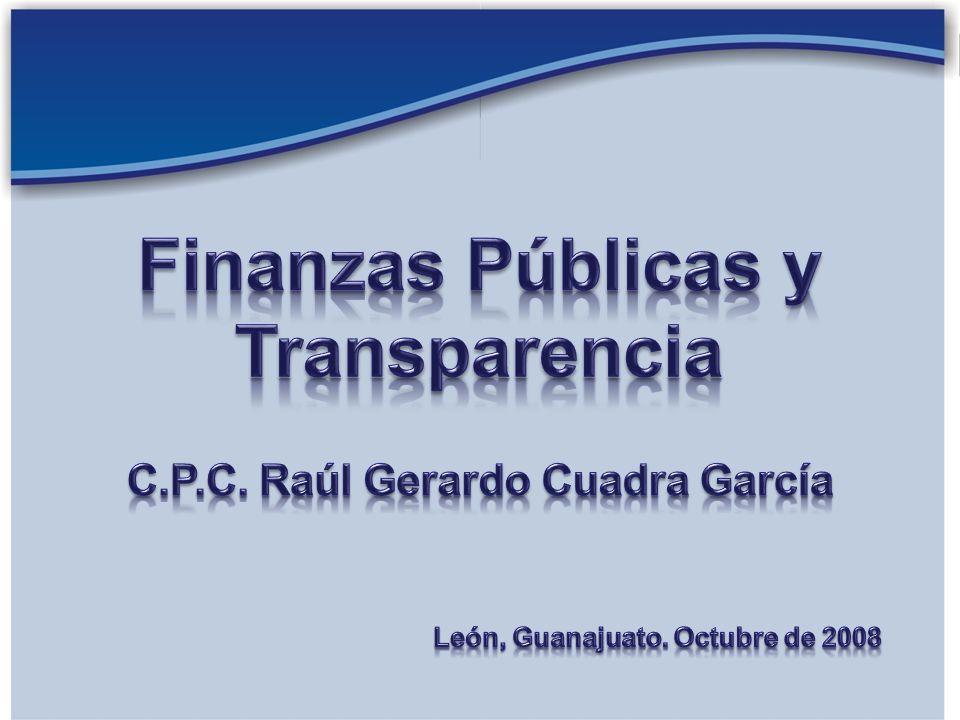 C.P.C. Raúl Gerardo Cuadra García León, Guanajuato. Octubre de 2008