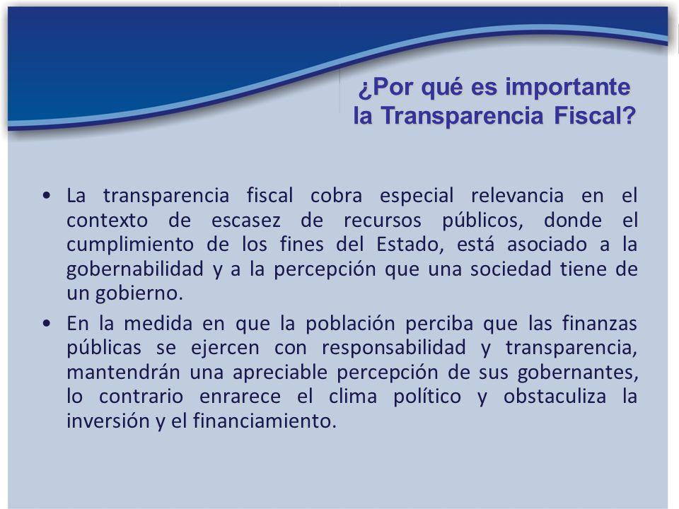 ¿Por qué es importante la Transparencia Fiscal