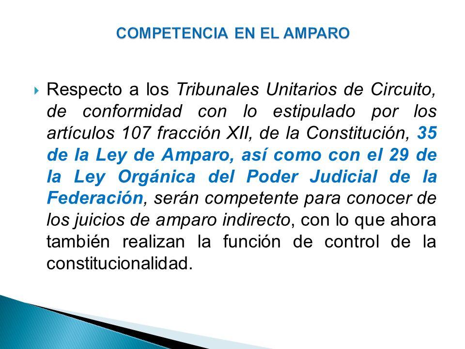 COMPETENCIA EN EL AMPARO