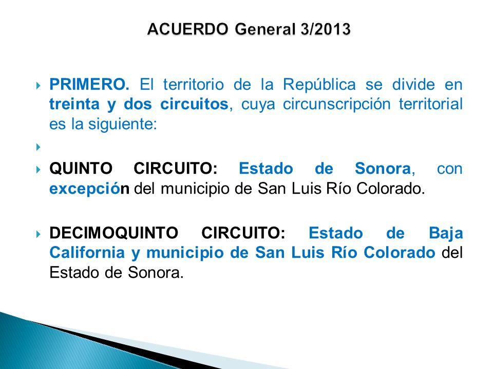 ACUERDO General 3/2013