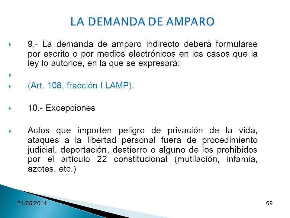 LA DEMANDA DE AMPARO