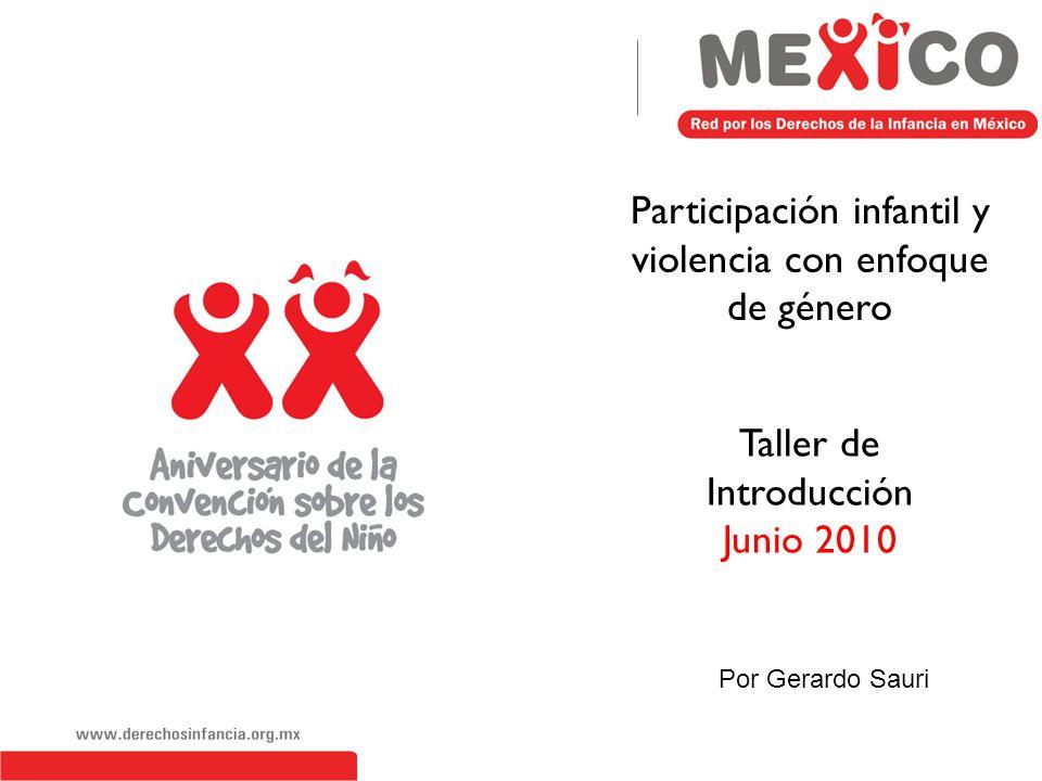Participación infantil y violencia con enfoque de género