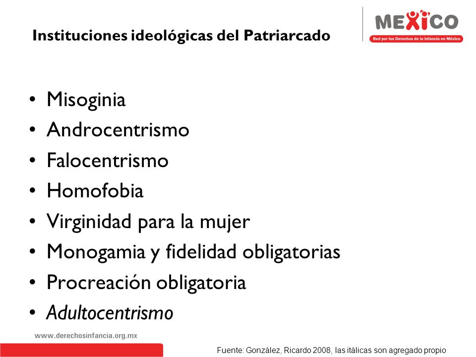 Instituciones ideológicas del Patriarcado