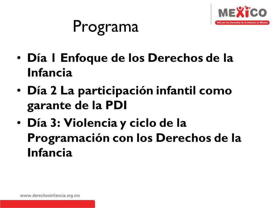 Programa Día 1 Enfoque de los Derechos de la Infancia