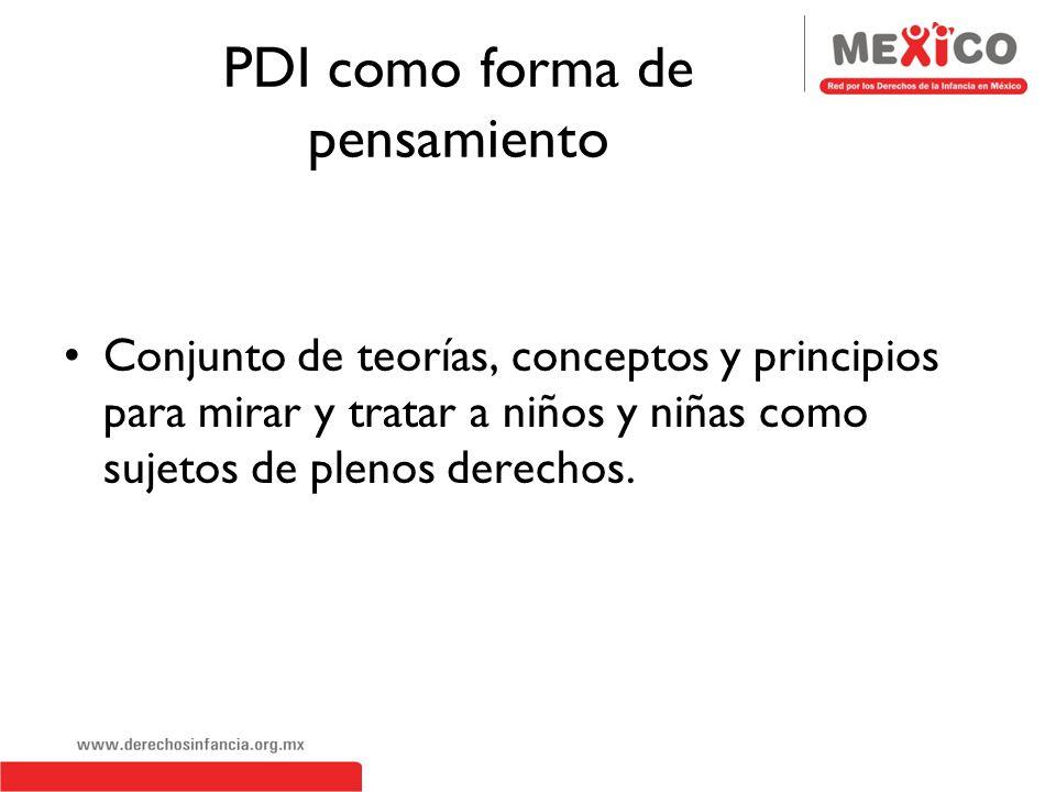 PDI como forma de pensamiento