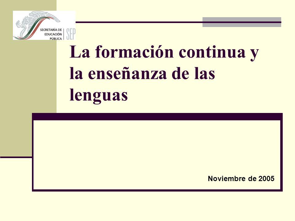 La formación continua y la enseñanza de las lenguas