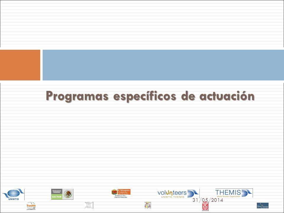 Programas específicos de actuación