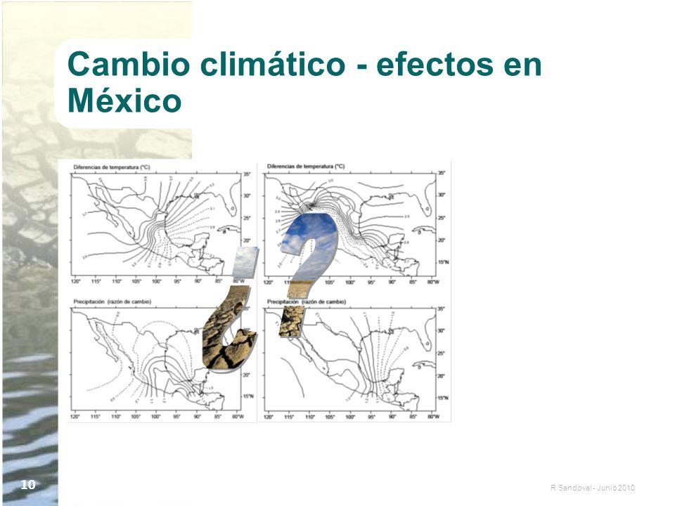 Cambio climático - efectos en México