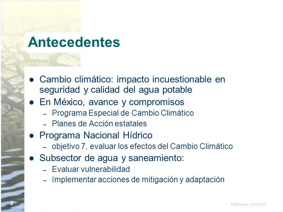 Antecedentes Cambio climático: impacto incuestionable en seguridad y calidad del agua potable. En México, avance y compromisos.