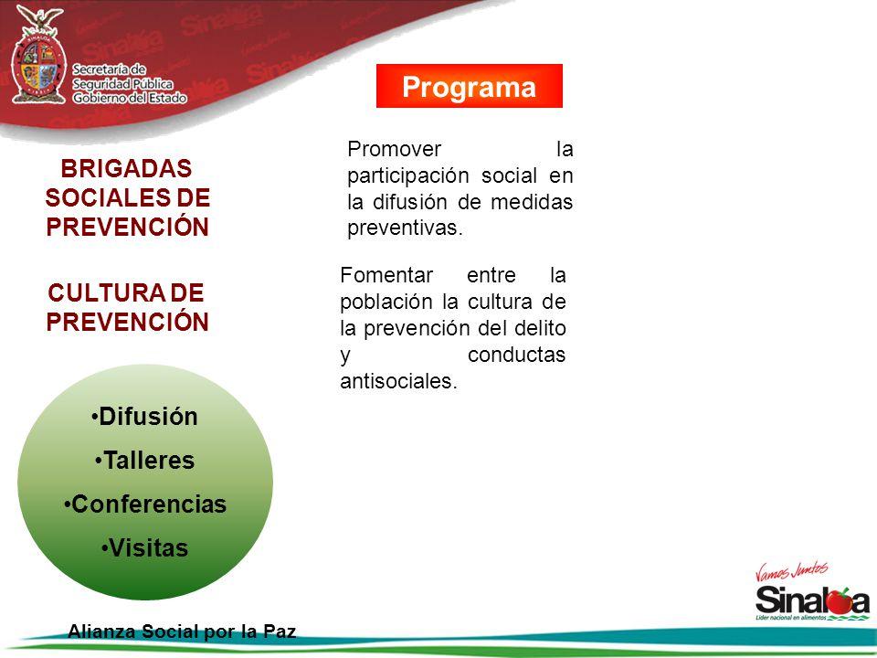 BRIGADAS SOCIALES DE PREVENCIÓN Alianza Social por la Paz