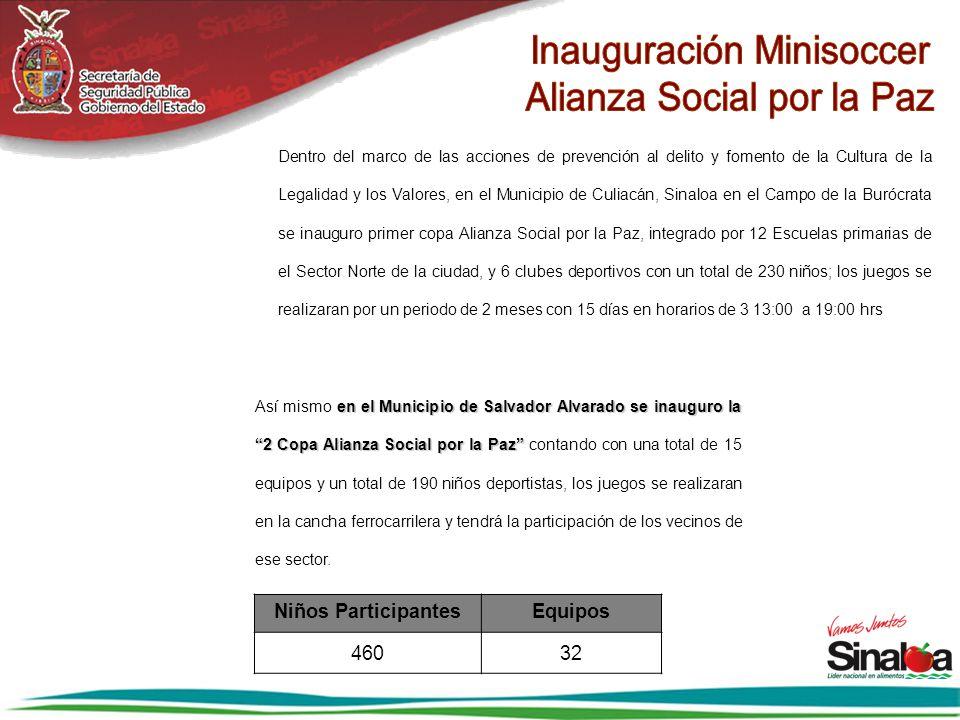 Inauguración Minisoccer Alianza Social por la Paz