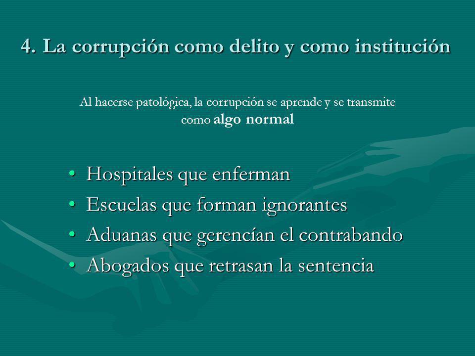 4. La corrupción como delito y como institución