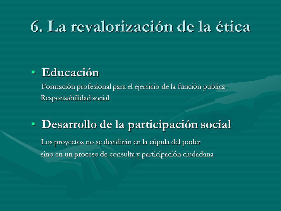 6. La revalorización de la ética