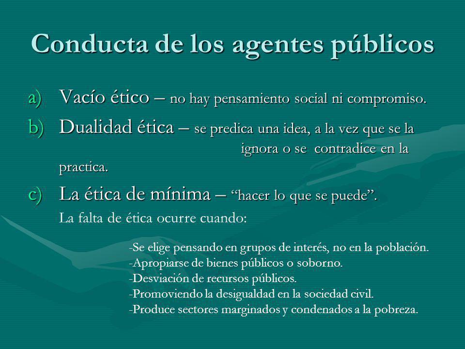 Conducta de los agentes públicos