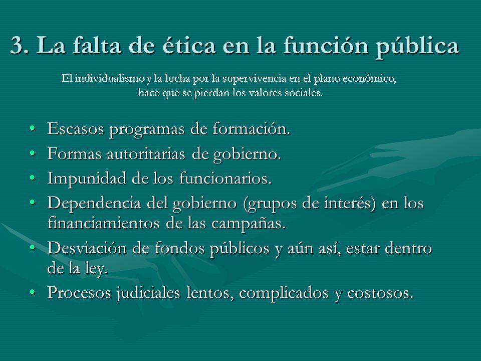 3. La falta de ética en la función pública