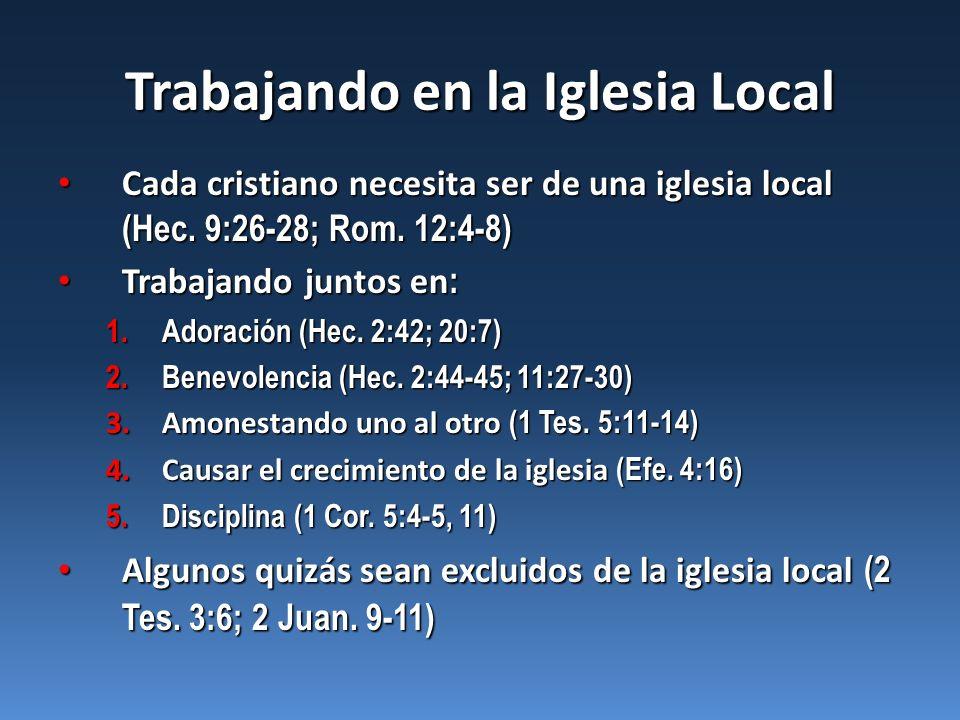 Trabajando en la Iglesia Local