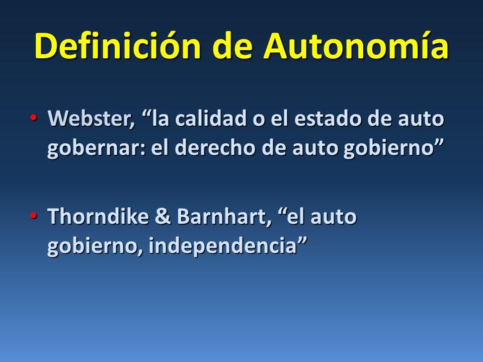Definición de Autonomía