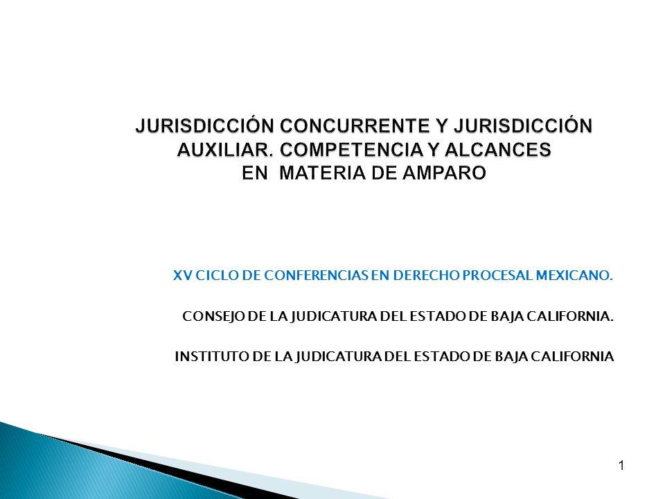 JURISDICCIÓN CONCURRENTE Y JURISDICCIÓN AUXILIAR