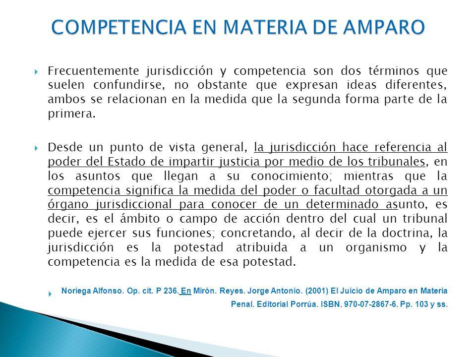 COMPETENCIA EN MATERIA DE AMPARO