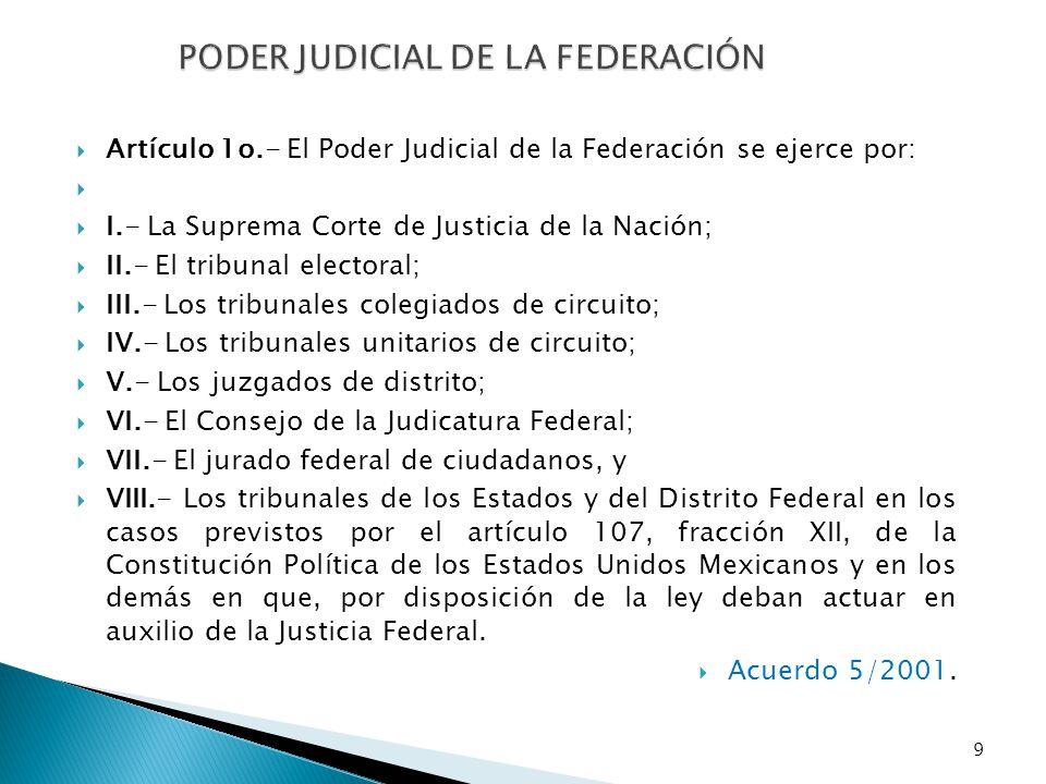 PODER JUDICIAL DE LA FEDERACIÓN