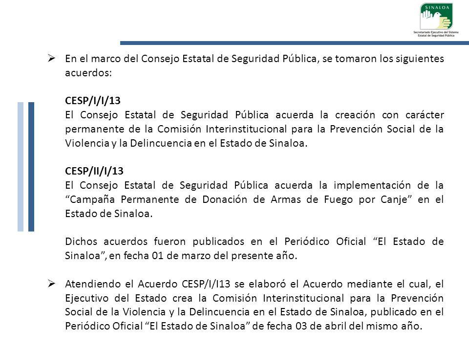 En el marco del Consejo Estatal de Seguridad Pública, se tomaron los siguientes acuerdos:
