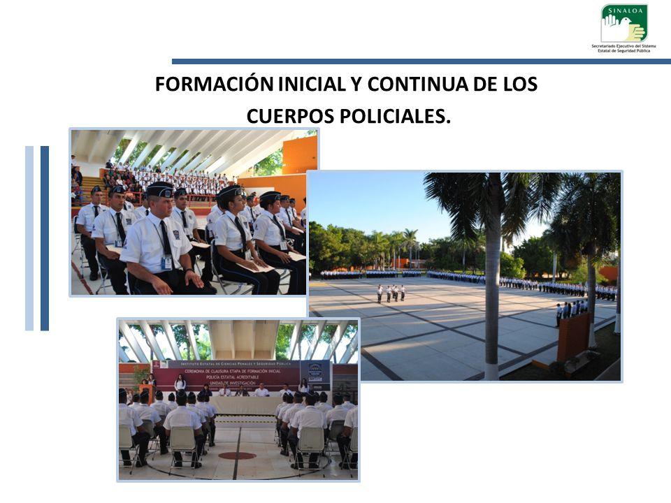 FORMACIÓN INICIAL Y CONTINUA DE LOS CUERPOS POLICIALES.