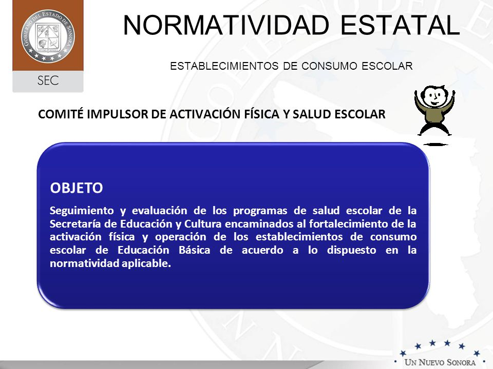 NORMATIVIDAD ESTATAL ESTABLECIMIENTOS DE CONSUMO ESCOLAR