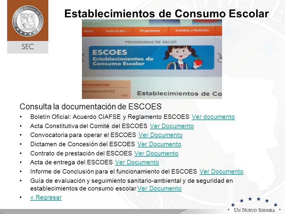 Establecimientos de Consumo Escolar