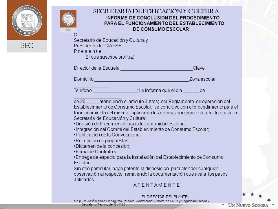SECRETARÌA DE EDUCACIÒN Y CULTURA