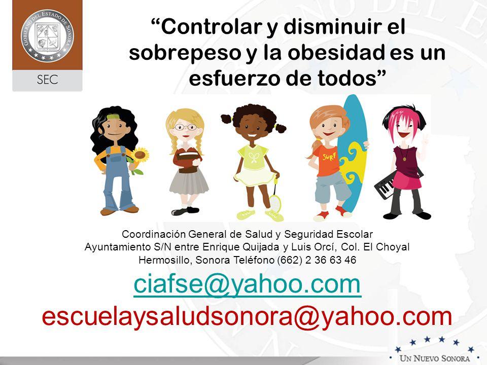 ciafse@yahoo.com escuelaysaludsonora@yahoo.com