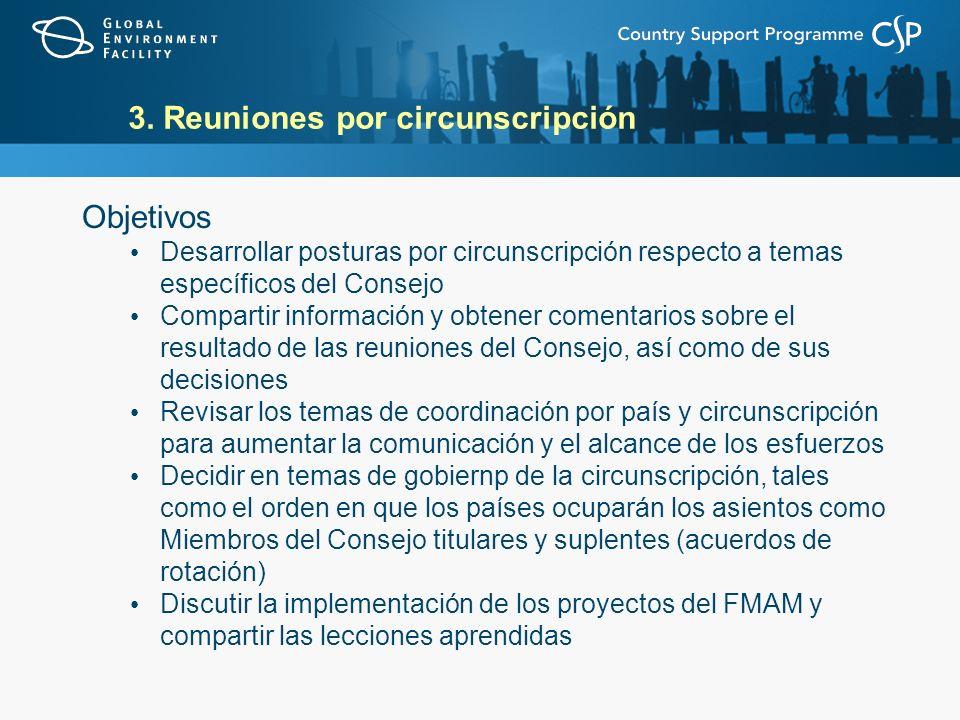 3. Reuniones por circunscripción