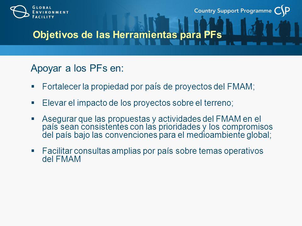 Objetivos de las Herramientas para PFs