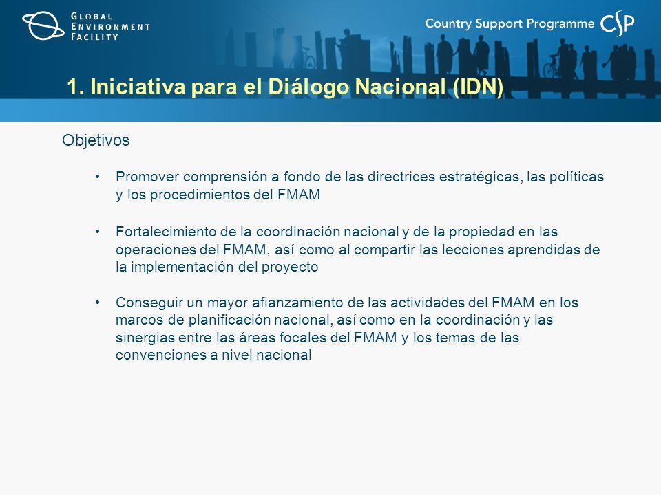 1. Iniciativa para el Diálogo Nacional (IDN)