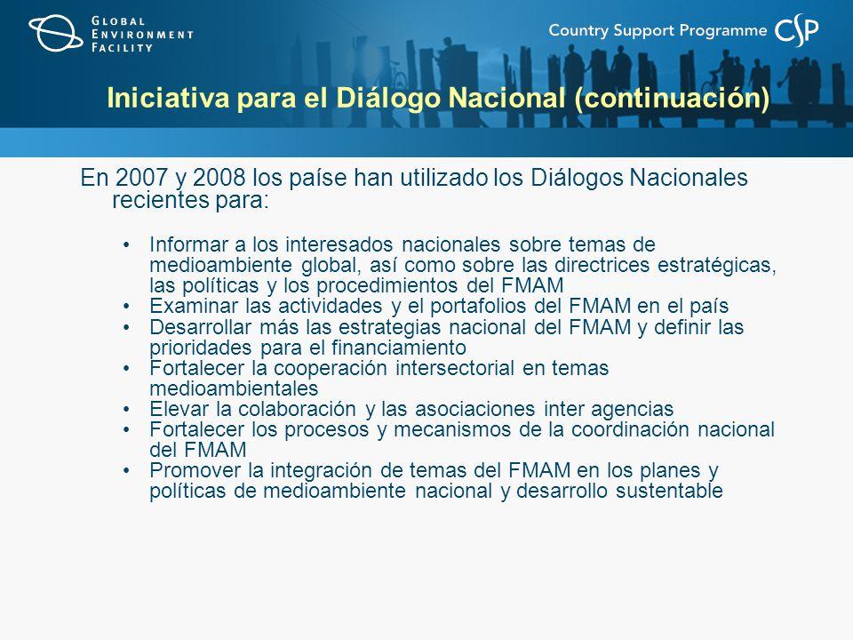 Iniciativa para el Diálogo Nacional (continuación)