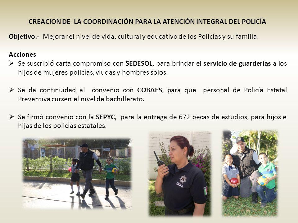 CREACION DE LA COORDINACIÓN PARA LA ATENCIÓN INTEGRAL DEL POLICÍA