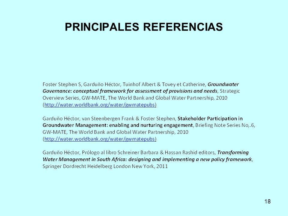 PRINCIPALES REFERENCIAS