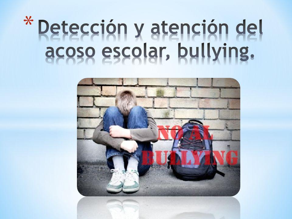 Detección y atención del acoso escolar, bullying.