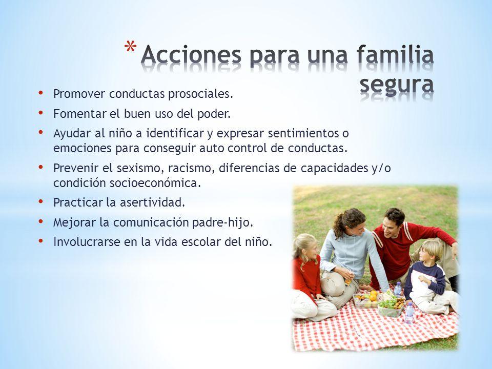 Acciones para una familia segura