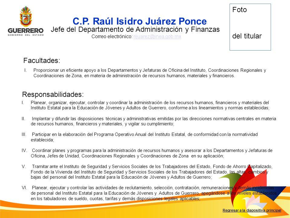 C.P. Raúl Isidro Juárez Ponce