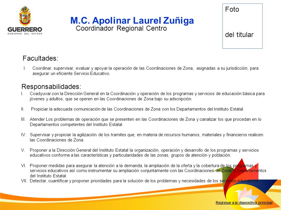 Coordinador Regional Centro