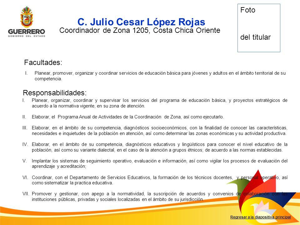 Coordinador de Zona 1205, Costa Chica Oriente