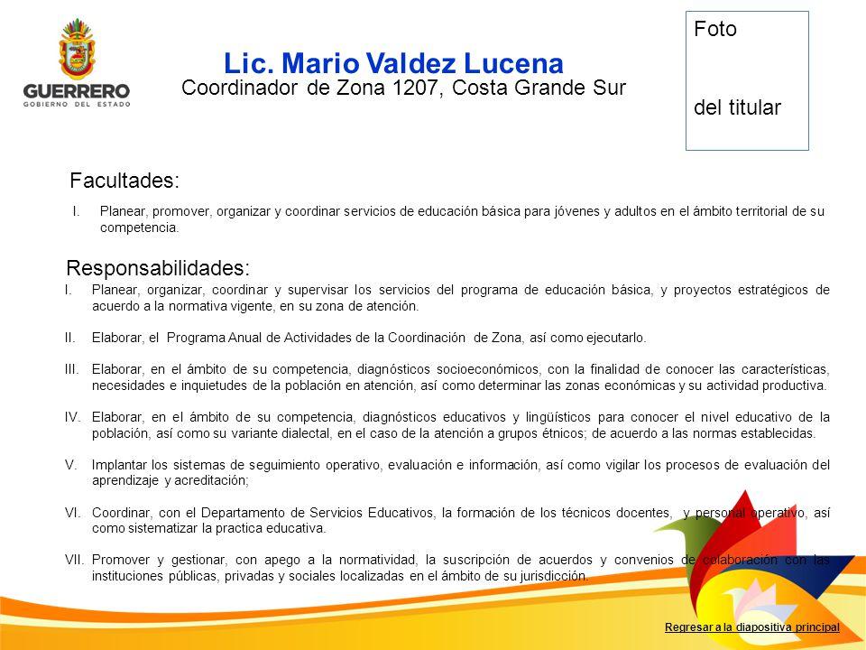 Coordinador de Zona 1207, Costa Grande Sur