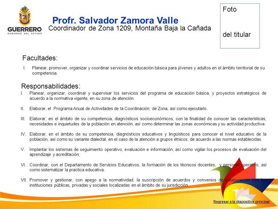 Profr. Salvador Zamora Valle