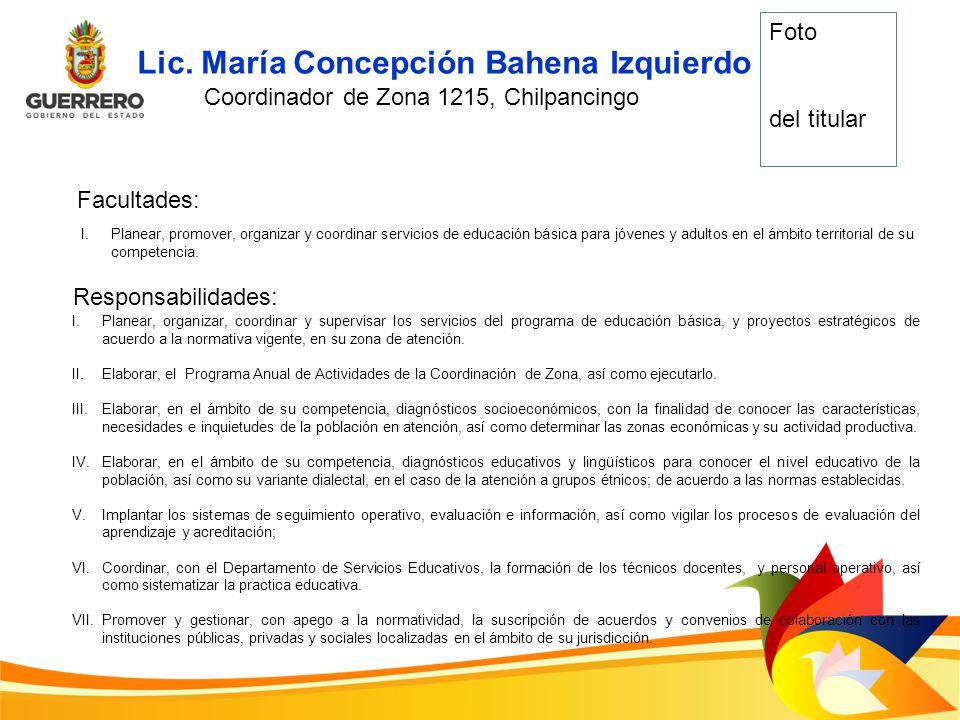 Coordinador de Zona 1215, Chilpancingo
