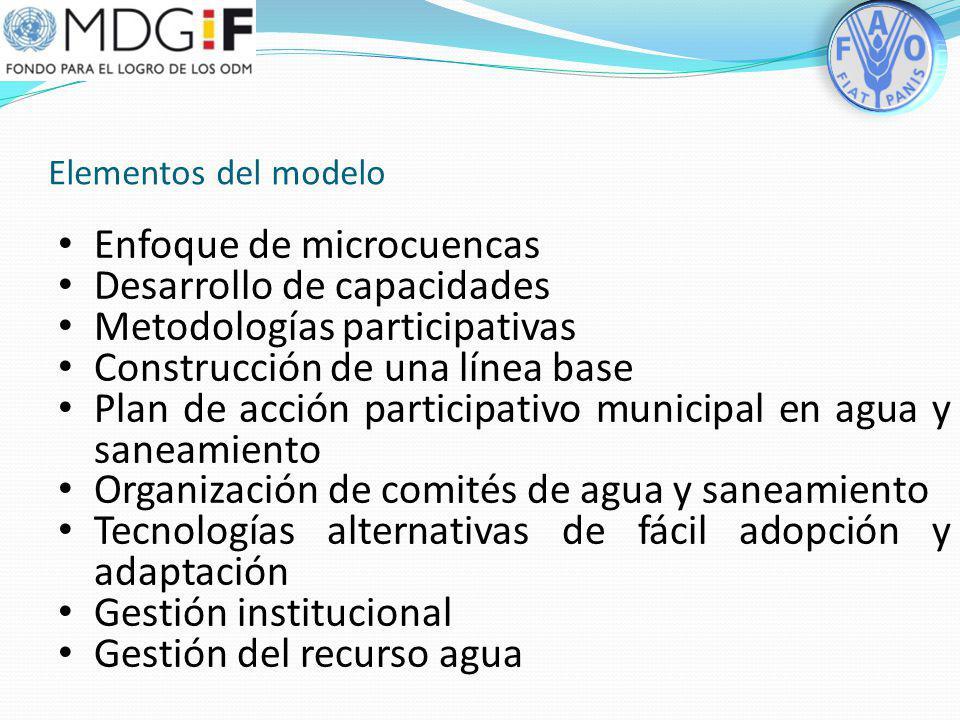 Enfoque de microcuencas Desarrollo de capacidades