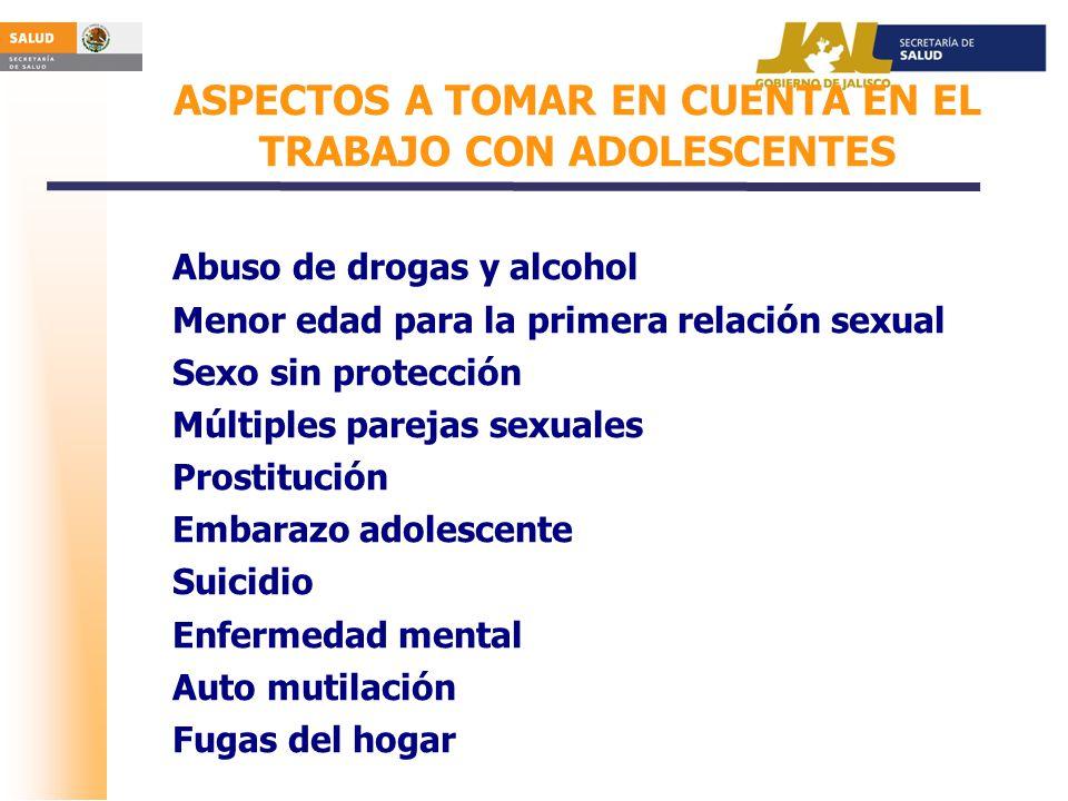 ASPECTOS A TOMAR EN CUENTA EN EL TRABAJO CON ADOLESCENTES