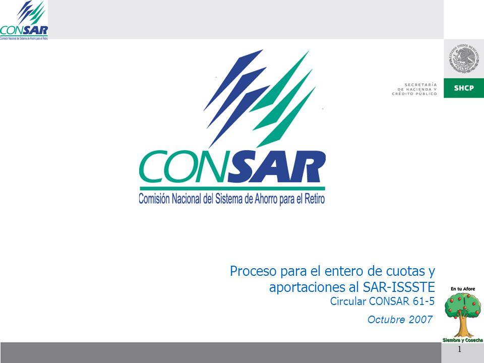 Proceso para el entero de cuotas y aportaciones al SAR-ISSSTE