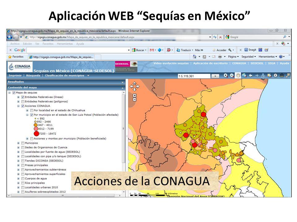 Aplicación WEB Sequías en México